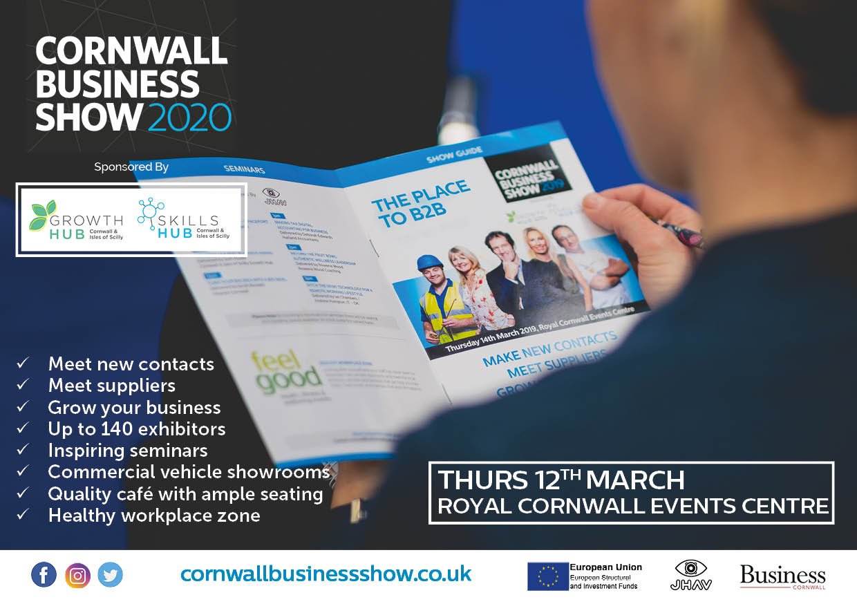 Come and meet us at the Cornwall Business Show!